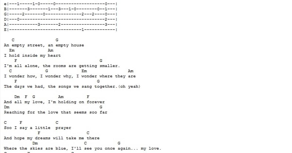 bhavan\'s: westlife my love guitar chords
