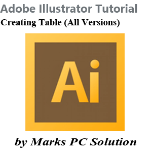 Creating Table in Adobe Illustrator