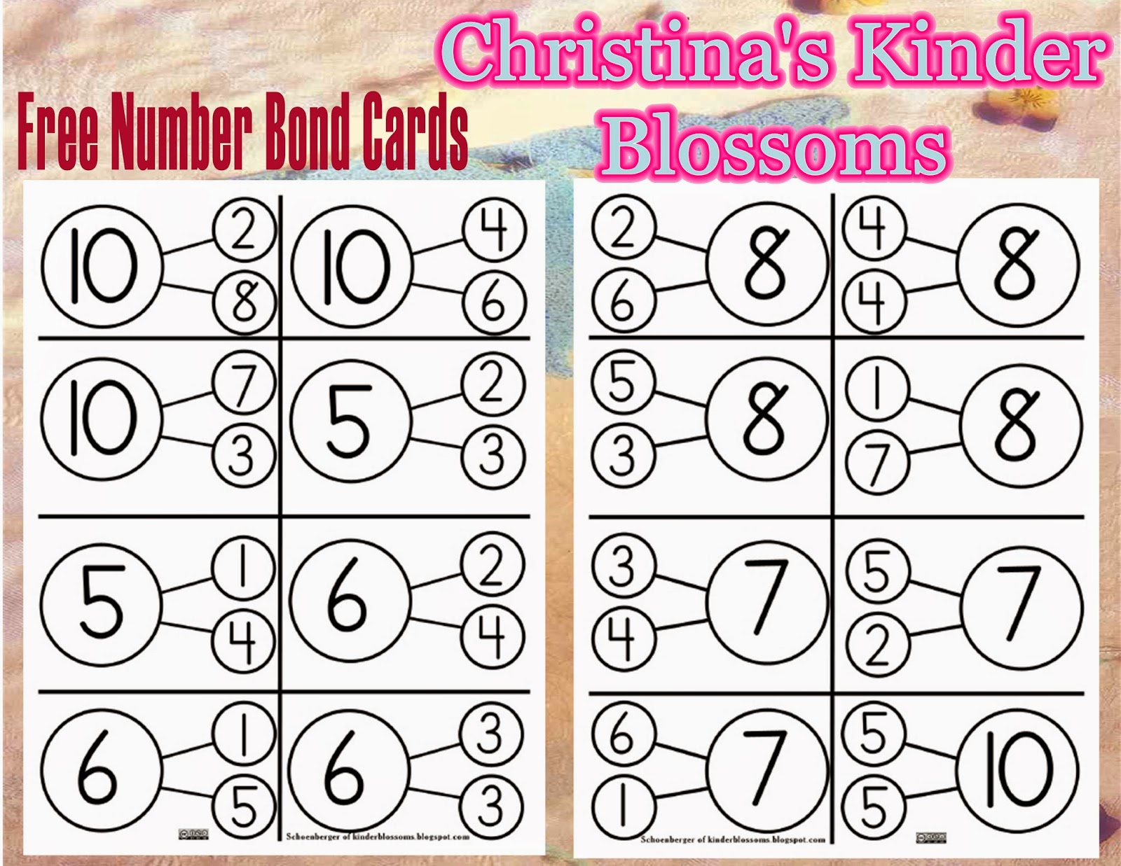 Christina\'s Kinder Blossoms: Number Bonds in kindergarten