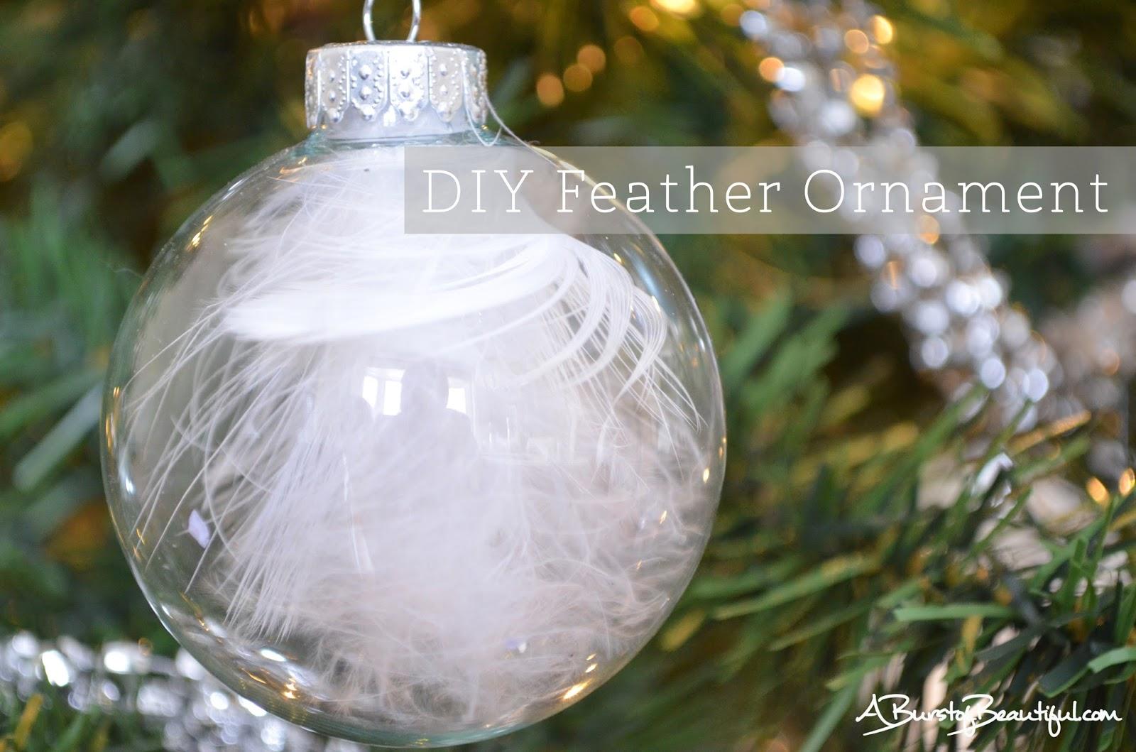 A burst of beautiful easy diy christmas ornaments for Beautiful diy christmas ornaments