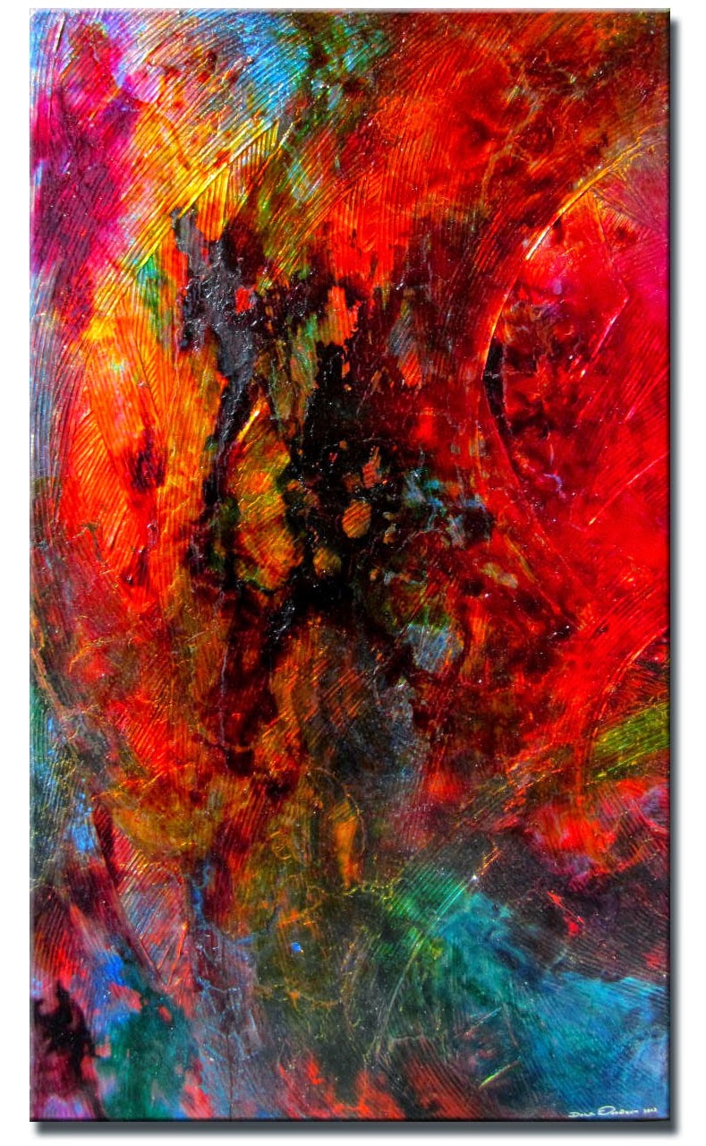 "Abstract Painting ""Red Wine"" by Dora Woodrum"