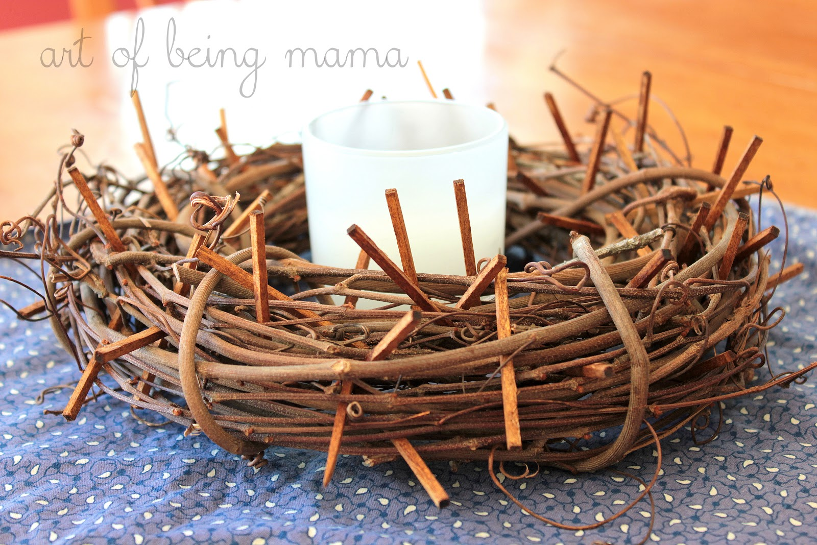 how to make crown of thorns tramp art