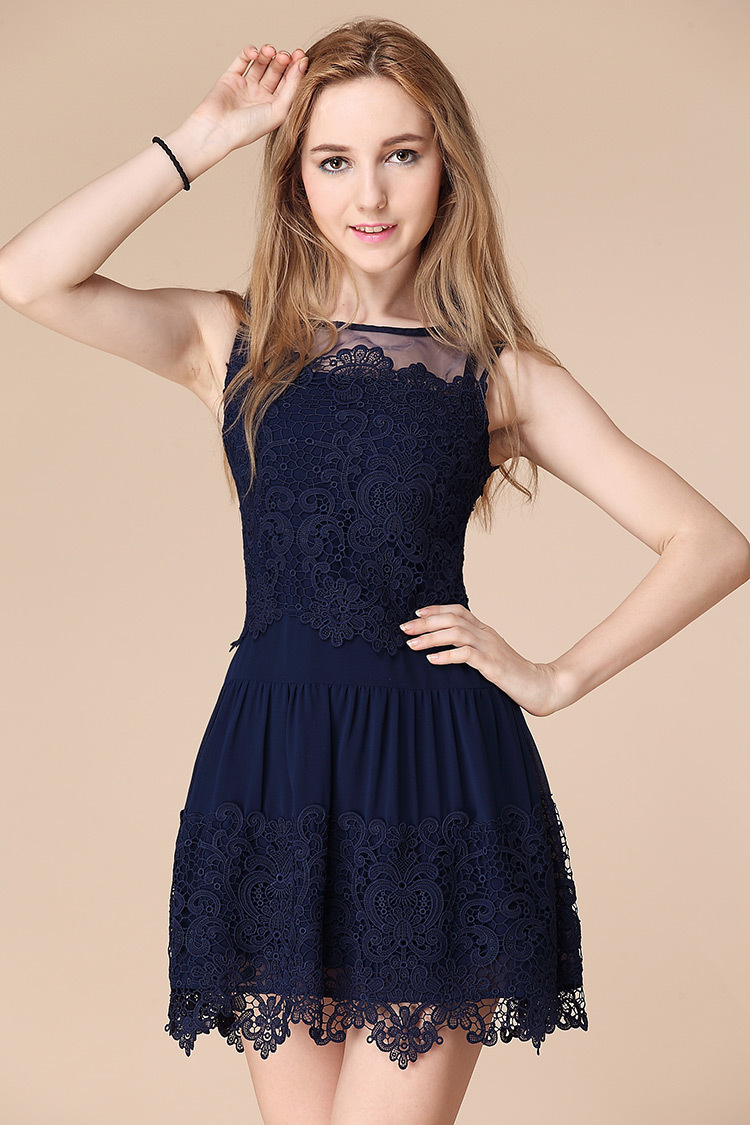 Cheap Homecoming Dresses in Navy Blue 2015 - prom and wedding