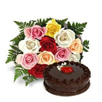 Flowers and Cake - Anniversary Gifts for Him