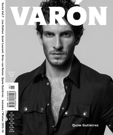 Quim Gutiérrez covers Varon Magazine No.7