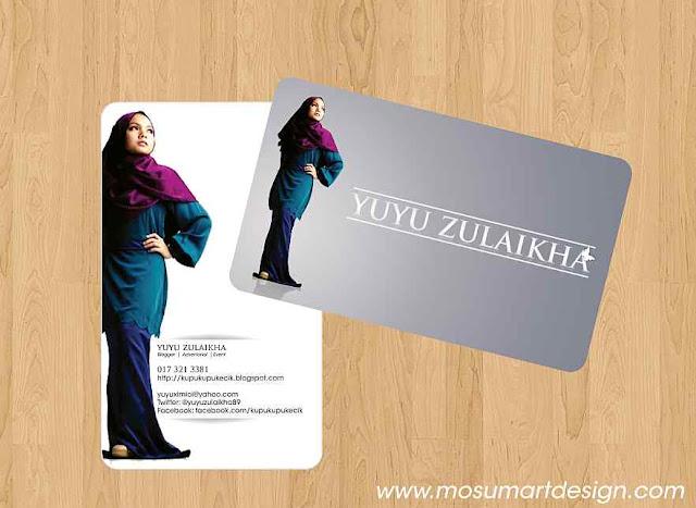 design business card yuyu zulaikha