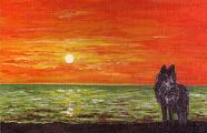 """""""Llop solitari"""". Obra (i regal) de la Bru."""