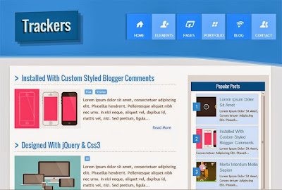Trackers Responsive Blogger Template