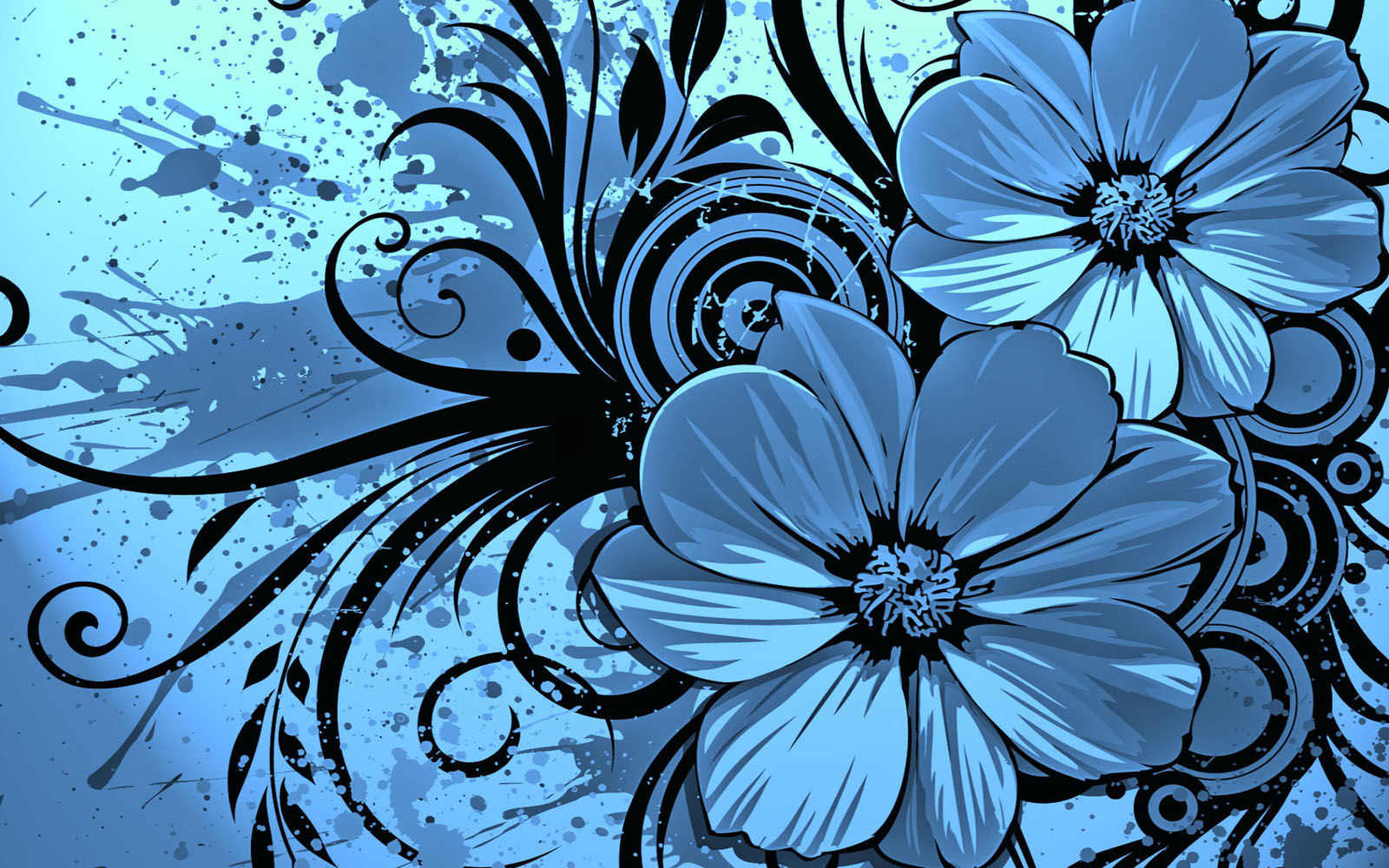 Vector flowers desktop wallpapers top wallpaper desktop for Wallpaper design ideas
