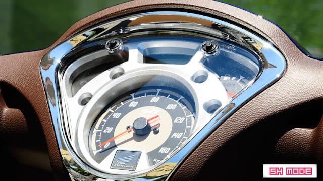Mặt đồng hồ của Honda SH Mode 2013