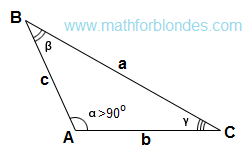 Stupid triangle top view. Obtuse triangle. Mathematics for blondes.
