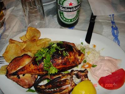 Stuffed calamari - Thassos 2009