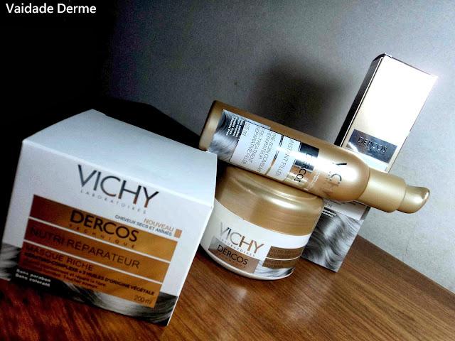 Dercos Máscara e Instant Filler Sérum Nutri Reparadora Creme da Vichy