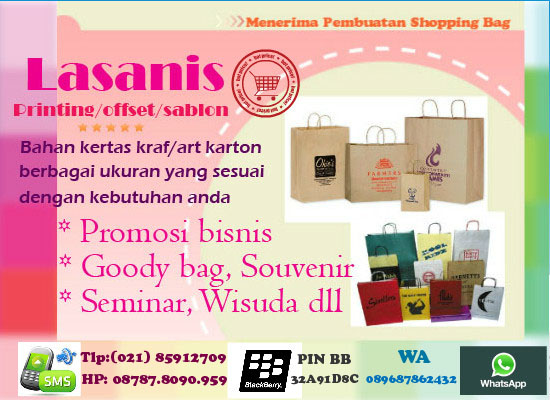 LASANIS MARKET: Jual/Pembuat Shopping Bag/Paper Bag Custom ...