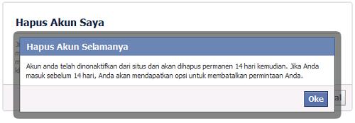 Cara Menghapus Facebook Langkah 3