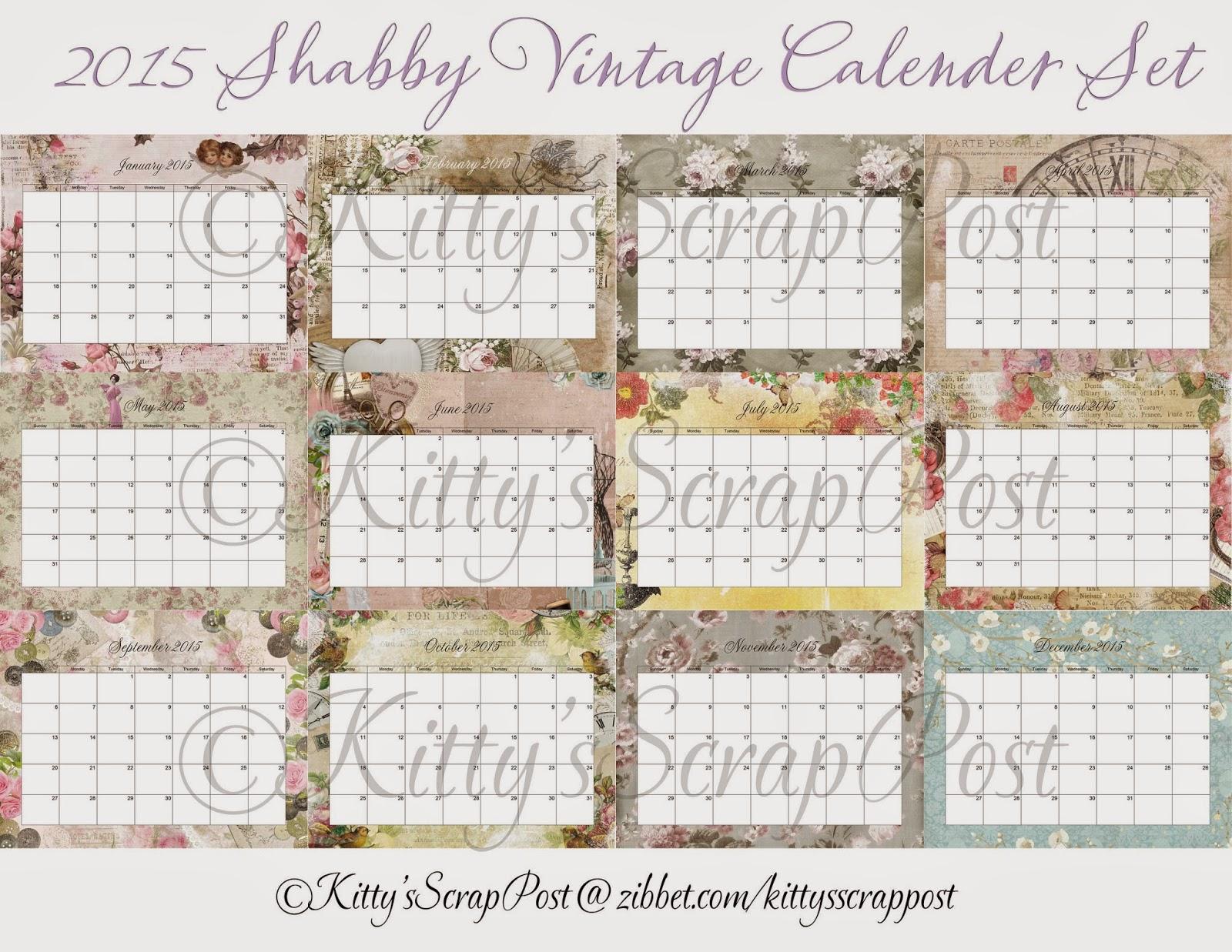 https://www.zibbet.com/kittysscrappost/2015-shabby-vintage-calendar-set