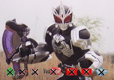 Kamen Rider OOO SaGoZo Combo with MedaGaburyu