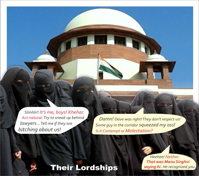 "MY LORDS SHOULD WEAR A BURQA and roam in the court corridors to hear the way lawyers talk about the judges of this court. You will get first-hand account of the rotting justice delivery system. The kind of lawyers who are being appointed as judges is a disgrace,"" senior advocate Dushyant Dave, arguing for the Supreme Court Bar Association (SCBA), told a Constitution Bench led by Justice J S Khehar."