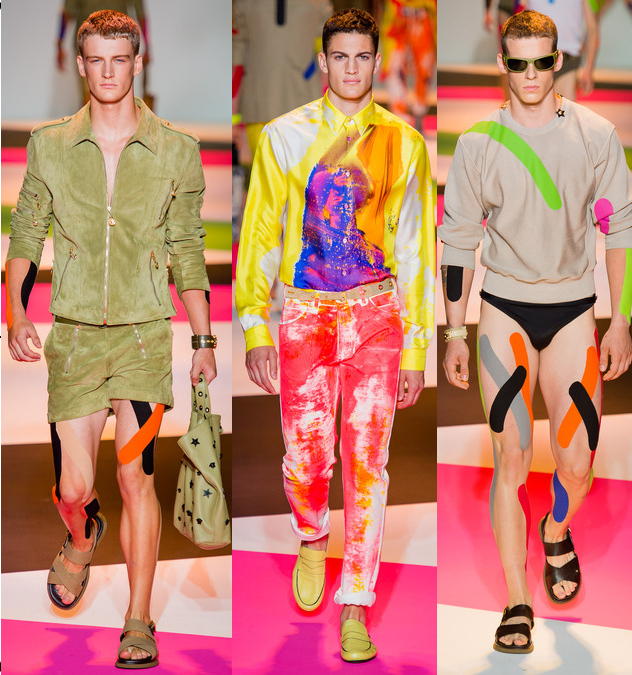versace mens spring 2014 graphic print pants