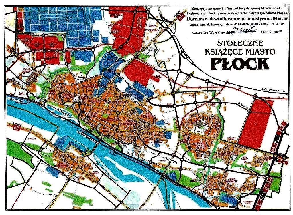 Płock – Koncepcja ukształtowania miasta
