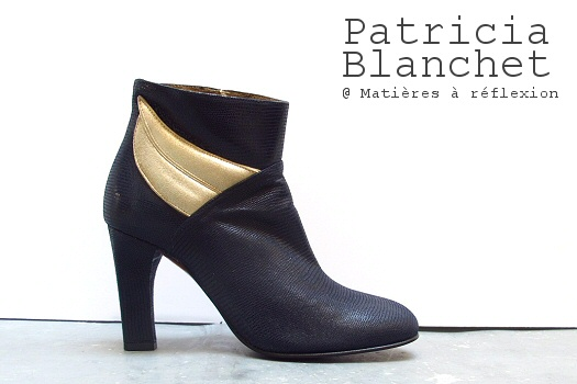 Nouvelle boots Patricia Blanchet marine encre Tarasse