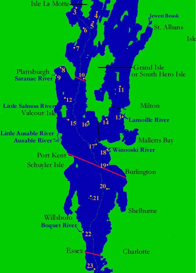 Fish champlain lake champlain fishing map for Fishing spots finder