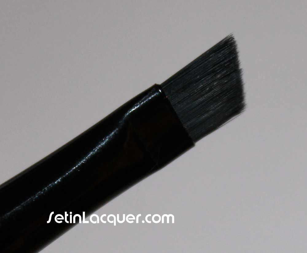 Elf small angled brush used for nail polish clean up