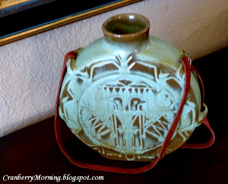 Cranberry Morning Vintage Frankoma Pottery Prairie Green