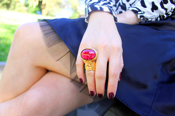 Red YSL Arty Ring
