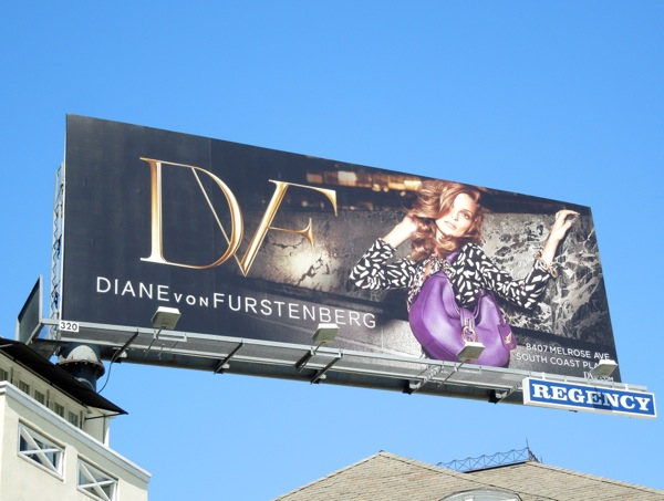 Diane Von Furstenburg FW 2013 fashion billboard