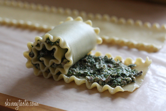 Mushroom Kale Lasagna Rolls | Skinnytaste