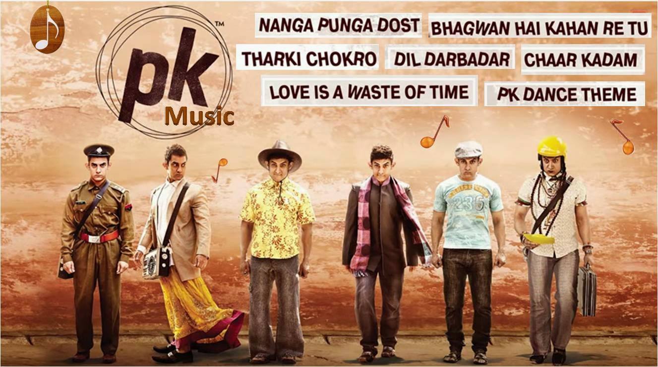 Aamir Khan, Anushka Sharma, Sushant Rajput starer Bollywood movie PK songs and music review