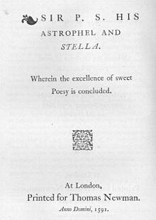 Astrophil y Stella Philip Sidney