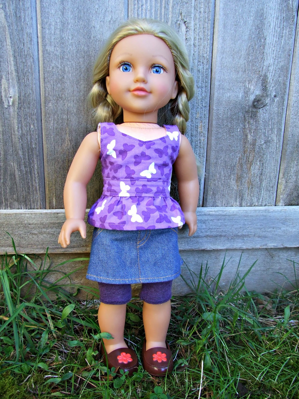 "Sewing 18"" Doll Clothes - the Liberty Jane Flounce Skirt and Peplum Top"