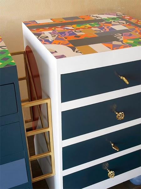 Móveis pintados, faça você mesma, diy, decoupage, pintura, moveis