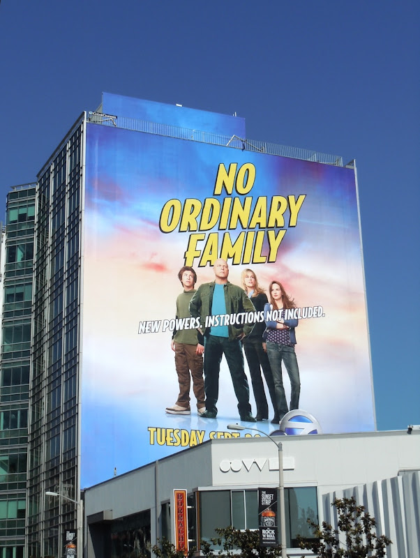 Giant No Ordinary Family billboard