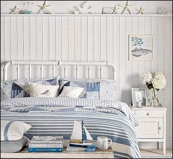 Decorating theme bedrooms maries manor seaside cottage for Beach house bedroom designs