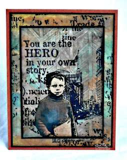 Mixed Media - Stamps Artistic Outpost Paperboy.  Designed by Lisa Somerville