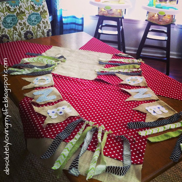 Loving Life: DIY Little Boy Highchair Banner For First