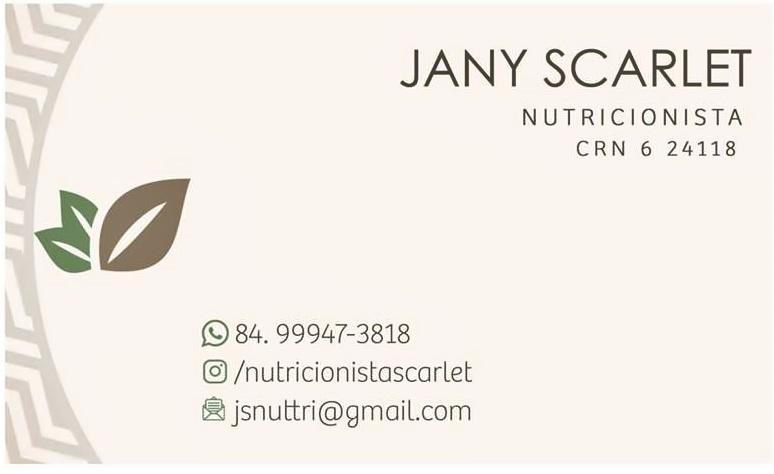 Jany Scarlet Nutricionista
