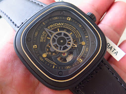 SEVEN FRIDAY BLACK GOLD EDITION CASE SF P2-02 BLACK GOLD SKELETON DIAL - AUTOMATIC