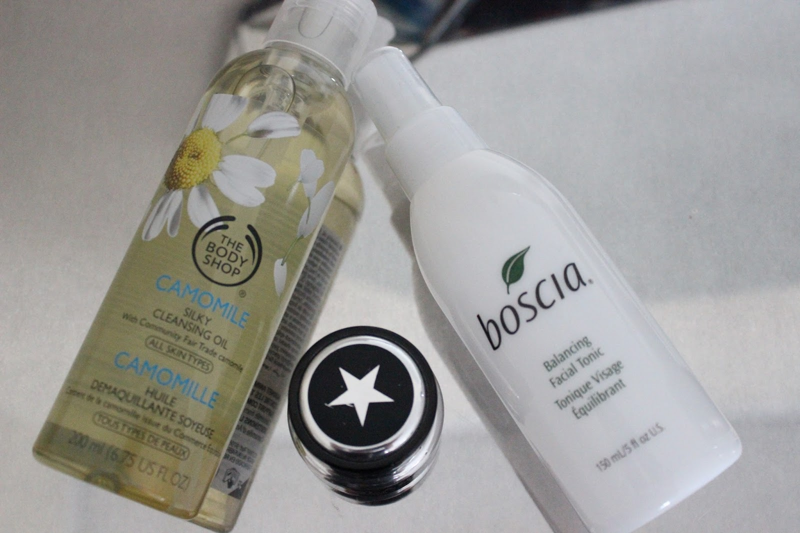 Beauty Favourites 2014 - The Body Shop Chamomile Silky Cleansing Oil, Glamglow Youth Mud, Boscia Balancing Facial Tonic