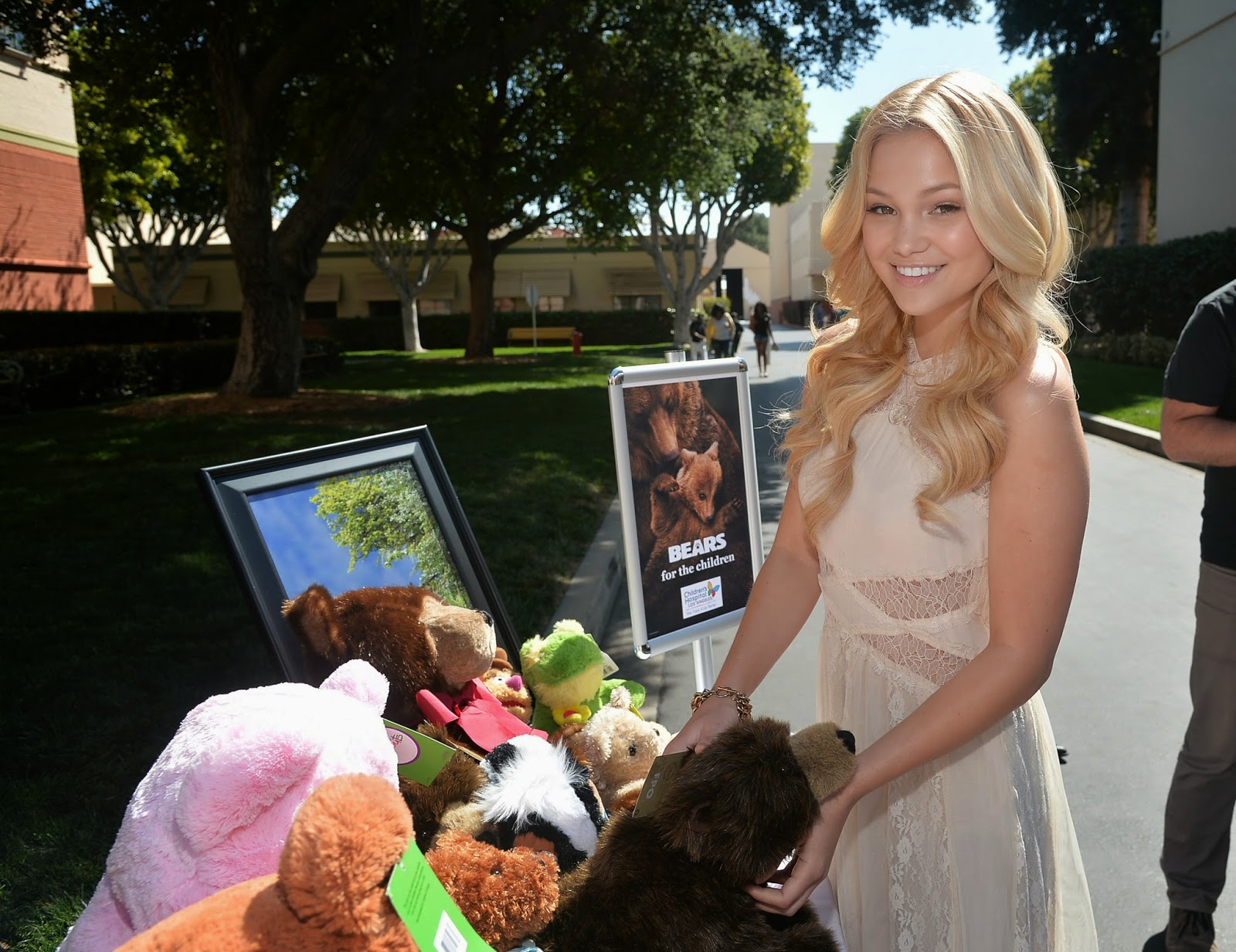 Guests were encouraged to bring a new plush bear to the screening to donate to Children's Hospital Los Angeles.