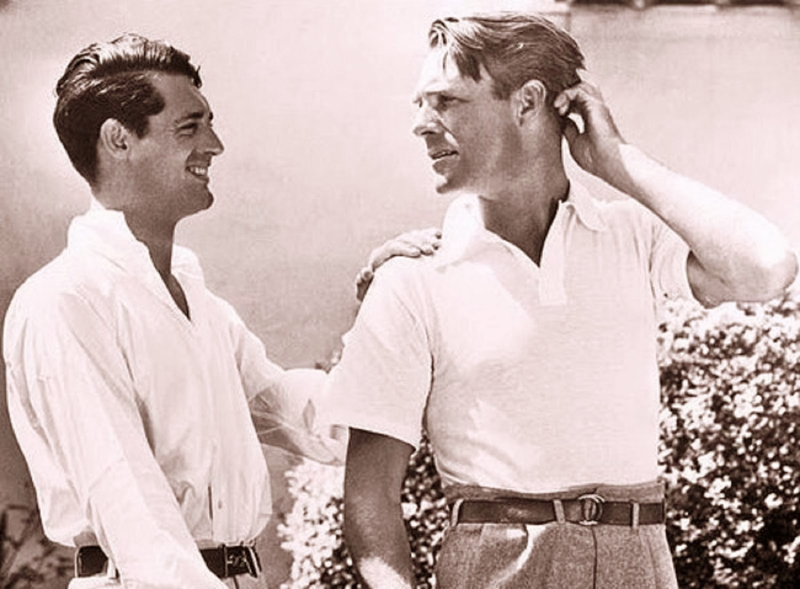 Cary Grant and Randolph Scott. well, think this photo sums up their Cary grant and randolph scott photo