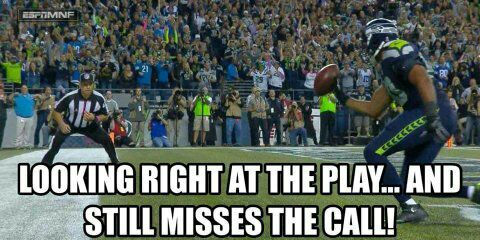 #fumbled #nflrefs #nfl #seahawks #seahawkshaters.- looking right at the play... and still misses the call!