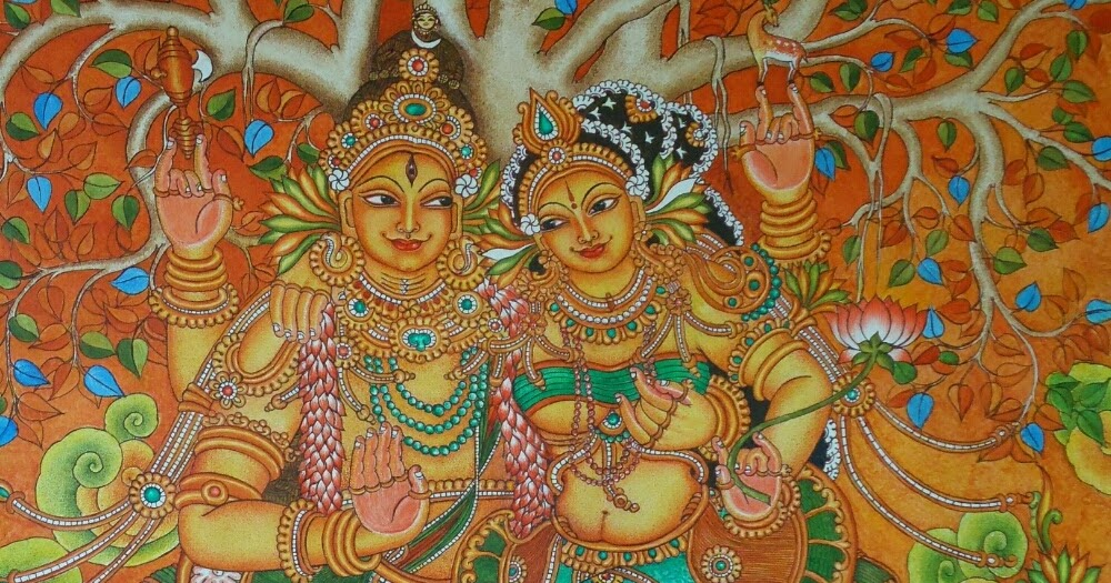 Mural paintings sivakudumbam mural painting for Mural art images