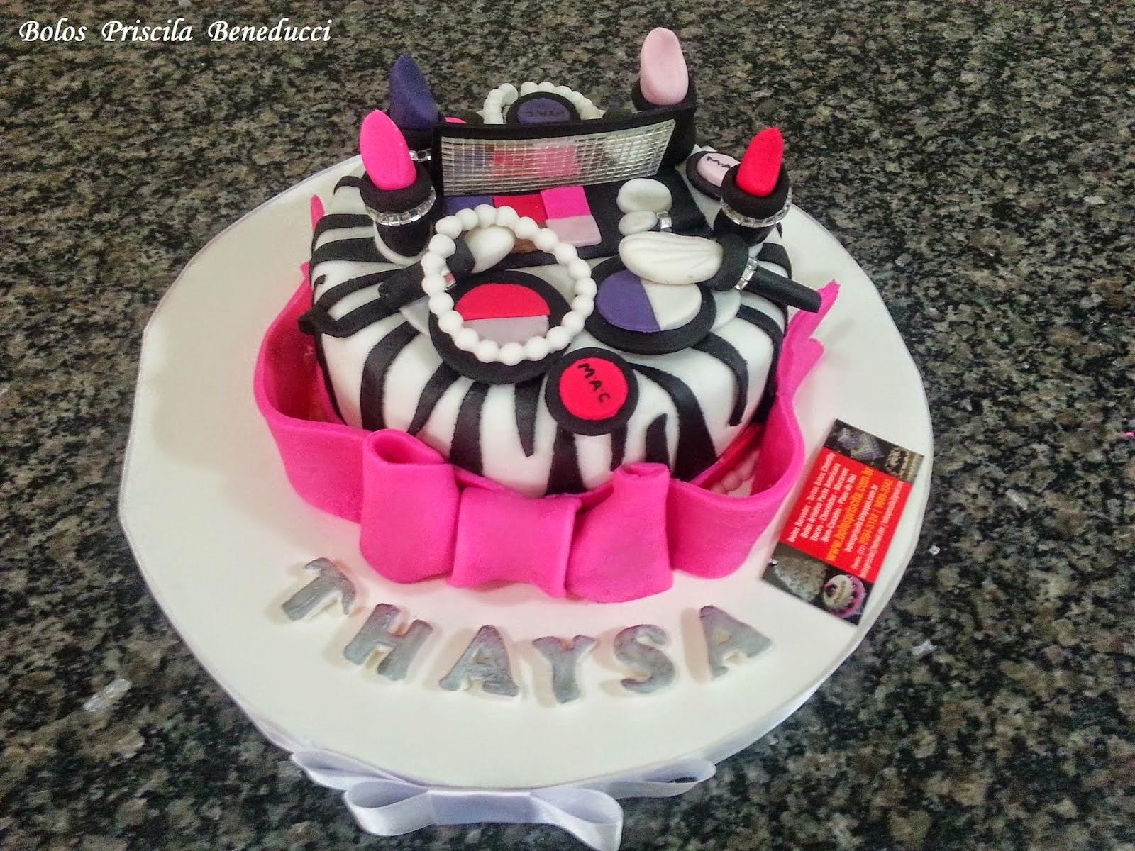 Bolo Maquiagem - Make Cake