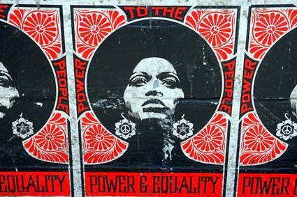 Image of a Power and Equality poster from the 70s
