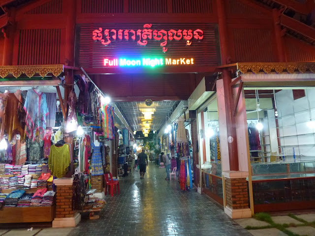 The full moon night market in Cambodia, Siem Reap