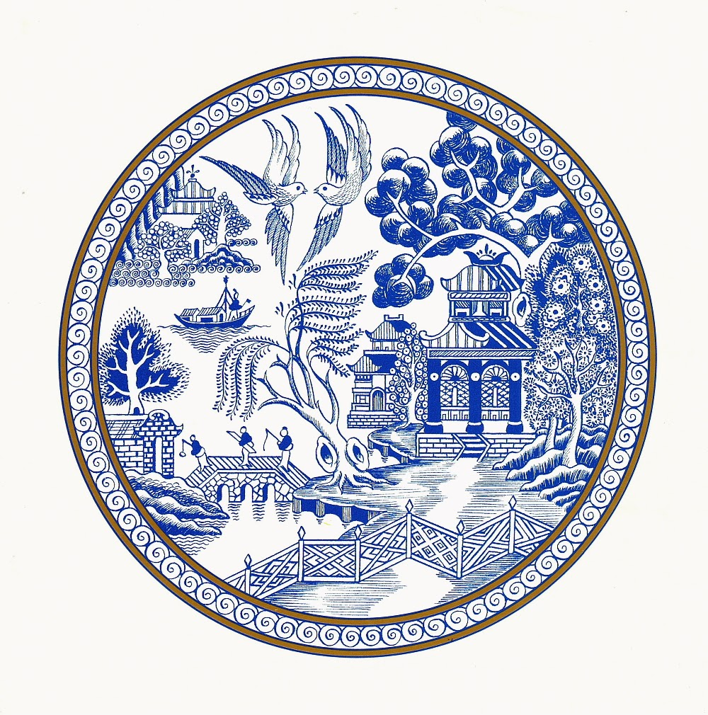 This is the Willow Pattern we are most familiar with - a traditional chinaware design by Thomas Minton in 1790 popularised for at least the next 200 years.  sc 1 st  Empress Wu Designs & Empress Wu Designs with Wilma : Willow Pattern Revisited